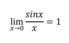sinx/xの→0の極限は1です。